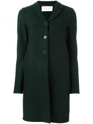 Палто на трех пуговицах Harris Wharf London. Цвет: зелёный