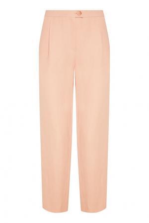 Бежевые широкие брюки Chapurin. Цвет: бежевый