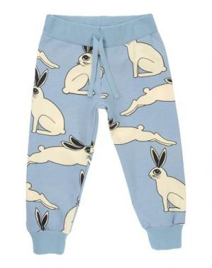 Повседневные брюки MINI RODINI. Цвет: небесно-голубой