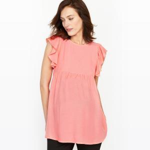Блузка для периода беременности La Redoute Collections. Цвет: розовый коралловый