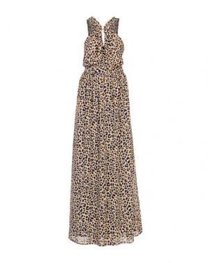Длинное платье MICHAEL KORS. Цвет: хаки
