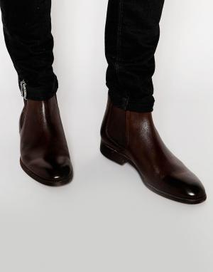 Standard Fortyfive Кожаные ботинки челси. Цвет: коричневый