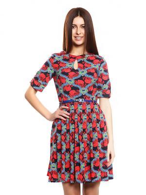 Платье TOPSANDTOPS. Цвет: красный, черный, синий