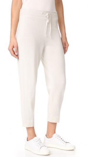 Трикотажные брюки для бега TSE Cashmere. Цвет: голубой