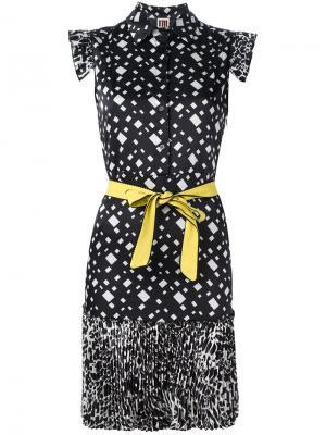 Платье с узором  IM Isola Marras I'M. Цвет: чёрный