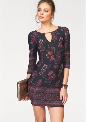 Платье MELROSE. Цвет: черный/лиловый