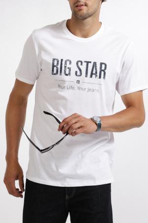 Футболка BIG STAR. Цвет: белый