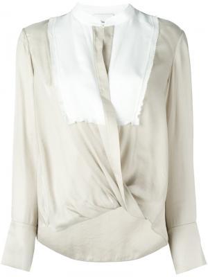 Драпированная блузка 3.1 Phillip Lim. Цвет: телесный
