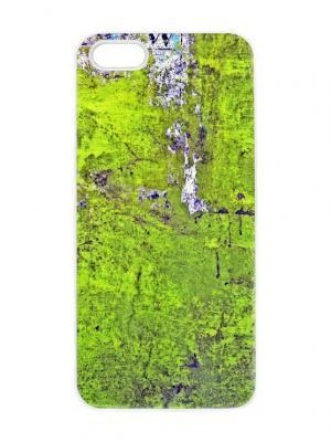 Чехол для iPhone 5/5s Зеленая абстракция Chocopony. Цвет: белый, черный