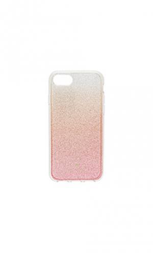 Блестящий чехол для iphone 7 kate spade new york. Цвет: розовый