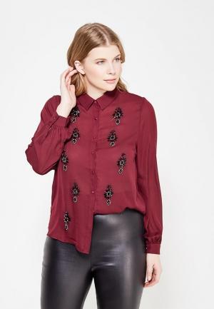 Блуза LOST INK PLUS. Цвет: бордовый