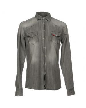 Джинсовая рубашка LIU •JO JEANS. Цвет: серый