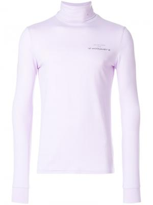 Топ с отворотной горловиной Atmosphere Raf Simons. Цвет: розовый и фиолетовый