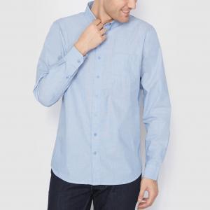 Рубашка прямого покроя с длинными рукавами на пуговицах R essentiel. Цвет: голубой бирюзовый,темно-синий