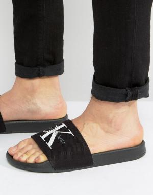 Calvin Klein Черные шлепанцы Viggo. Цвет: черный