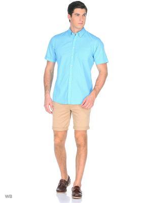 Рубашка Boston Brothers. Цвет: морская волна