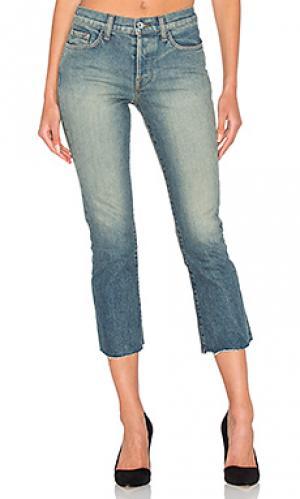 Укороченные расклёшенные джинсы maxwell baldwin. Цвет: none