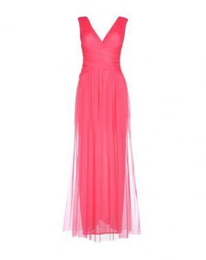 Длинное платье X'S MILANO. Цвет: фуксия