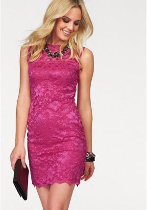 Платье MELROSE. Цвет: кремовый, черный, ярко-розовый