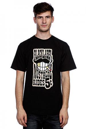 Футболка  Mustache Rides Black Label. Цвет: черный
