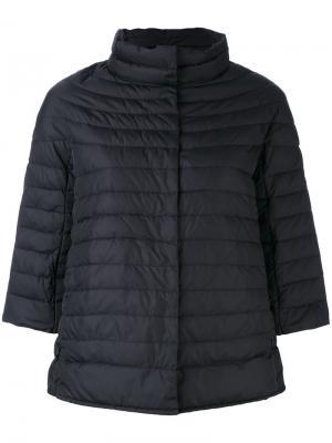 Дутая куртка с рукавами три четверти Duvetica. Цвет: чёрный