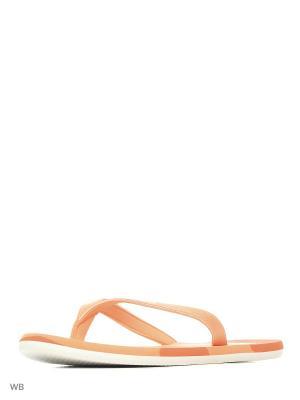 Шлепанцы  eezay striped marbl EASORA/FTWWHT/ENERGY Adidas. Цвет: оранжевый