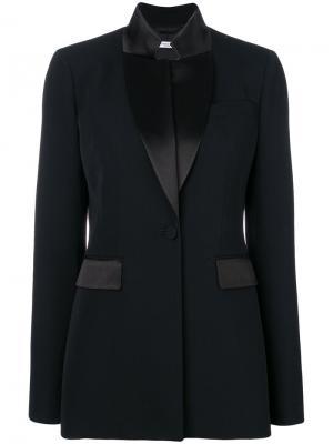 Классический приталенный блейзер Givenchy. Цвет: чёрный
