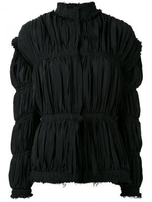 Присборенная куртка с высоким воротом JW Anderson. Цвет: чёрный
