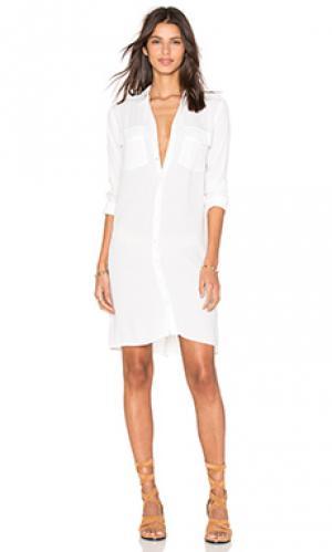 Платье shirt OLCAY GULSEN. Цвет: белый