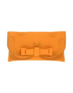 Сумка на руку LA FILLE des FLEURS. Цвет: оранжевый