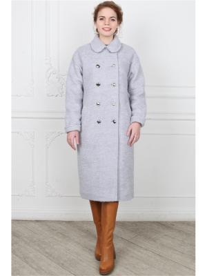 Пальто po Pogode. Цвет: серый