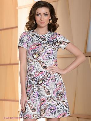 Платье Satin. Цвет: бежевый, серый, фиолетовый