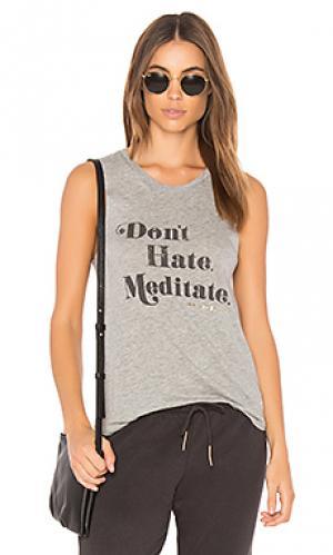 Майка meditate Spiritual Gangster. Цвет: серый