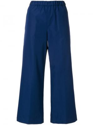 Укороченные широкие брюки Aspesi. Цвет: синий