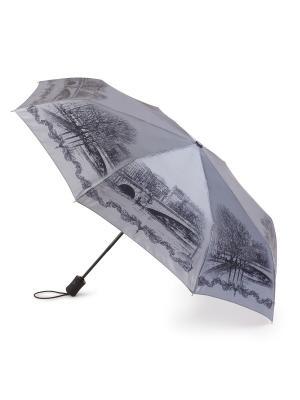 Зонт женский автомат Henry Backer. Цвет: серый