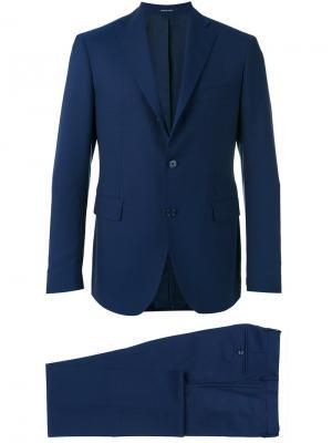 Классический костюм Tagliatore. Цвет: синий