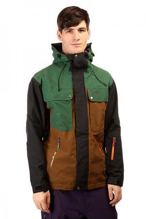 Куртка  Gear Cosmic Khaki Trew. Цвет: зеленый,коричневый,черный