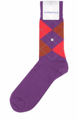 Хлопковые носки King Burlington. Цвет: фиолетовый