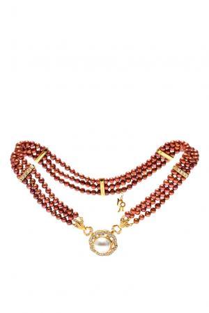 Ожерелье 141471 Nasonpearl. Цвет: коричневый