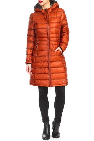Пальто YETI. Цвет: оранжевый