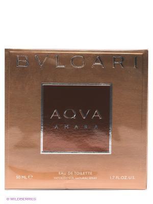 Туалетная вода Aqva Amara, 50 мл BVLGARI. Цвет: коричневый