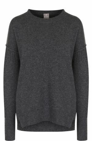 Кашемировый пуловер свободного кроя с круглым вырезом FTC. Цвет: темно-серый