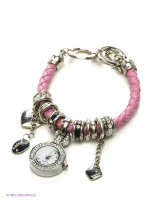 Часы Migura. Цвет: розовый, серебристый