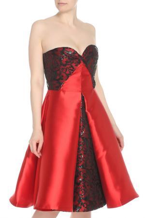 Платье Isabel Garcia. Цвет: tomato, jet black