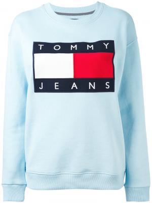 Толстовка с нашивкой логотипа Tommy Jeans. Цвет: синий
