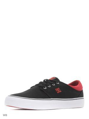 Кеды DC Shoes. Цвет: черный, бордовый