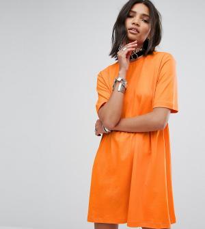 Rokoko Свободное платье-футболка. Цвет: оранжевый