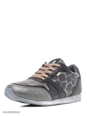 Кроссовки BASS3D. Цвет: бронзовый, серый