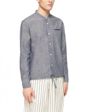 Хлопковая рубашка YMC. Цвет: серый