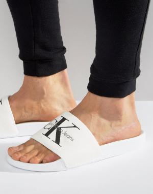 Calvin Klein Белые шлепанцы Viggo. Цвет: белый